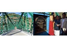 Sunil inaugurates  Motorable  Bridge over river Chenab
