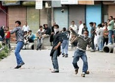 20 injured after protesters pelted stones