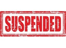 7 officials suspended