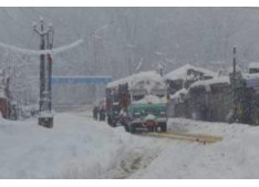 Winter peaks up in J&K; Leh (-12 degree celsius), Srinagar (2 deg) & Jammu (6.8 deg)
