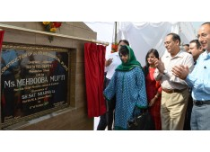 Mehbooba inaugurates, lays foundation of additional accommodation for move employees