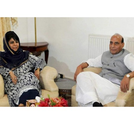 Mehbooba meets Rajnath, discusses prevailing situation in Kashmir