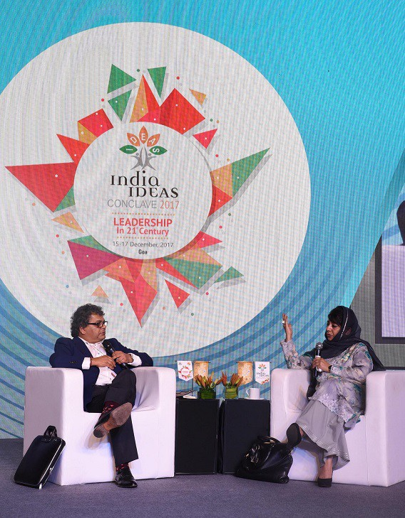 CM addresses India Ideas Conclave-2017: Mehbooba says Kashmiriyat deep rooted, reconciliation way ahead; advocates healing touch