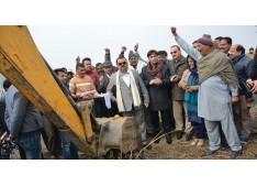Ganga lays foundation of playfield at Kotli Matlakian