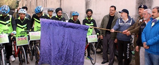 Ansari flaggs off cycling expedition