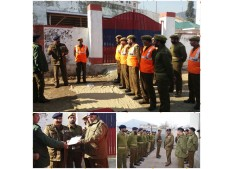 Commandant Gen HG,CD & SDRF J&K visits South and North Kashmir