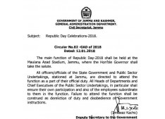 Officers to attend Republic day  as a part of official duty