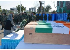 Chief Minister, Dy CM lay wreaths on bodies of  Martyred Army personnel
