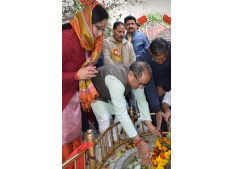 DY CM pays obeisance at Aap Shambu temple ; Says festivals serve opportunity for coming together, celebrating spirit of India