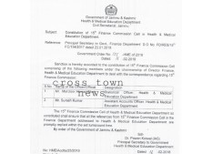 Constitution of 15th Finance Commission Cell
