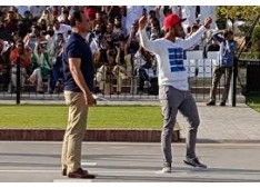 Pakistani Cricketer Hasan Ali Makes his Signature gesture towards BSF & Indian Audience ; Breaches Protocol at Wagah Border