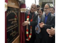 Veeri lays foundation of 50-bed Sub-District Hospital Bijbehara