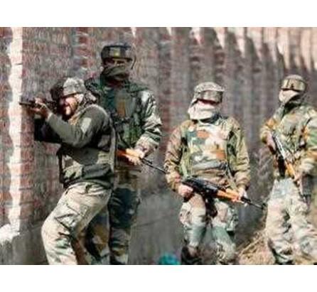 Five terrorists gunned down