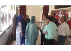 Imran Ansari pays surprise visit to Govt Women College Srinagar