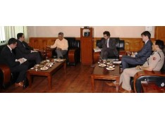 French Ambassador interacts with DGP J&K SP Vaid  & other officers