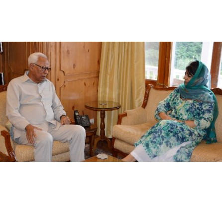 Mehbooba Mufti referred to certain important issues with Governor