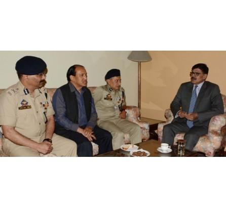 Vijay Kumar(IPS) Advisor reviews security situation