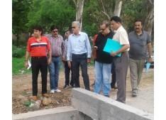 Arvind Kotawal Commissioner, JMC reviews developmental works being undertaken by JMC.