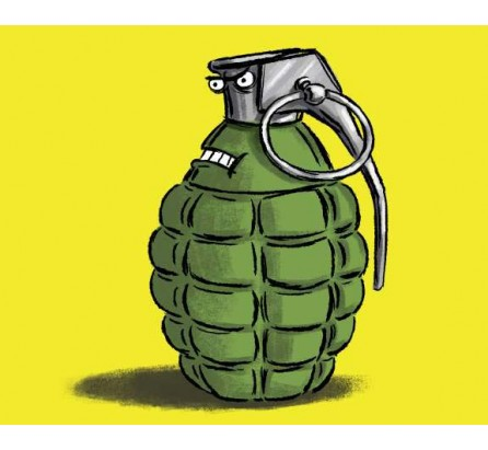 One held with live  grenade
