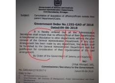 Cancellation of deputation of officers/officials outside their parent Department/Cadre