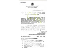 All Adm. Secretaries asked to furnish information regarding major dev. activities