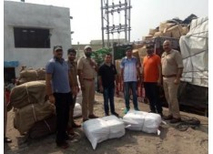Excise Dept seizes 256 nags of banned polythene weighing approximately 4 tonnes