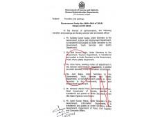 Transfers and postings of Under Secretaries