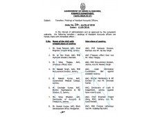 J& K Finance department orders Transfers and postings of  72 Assistant Accounts Officers