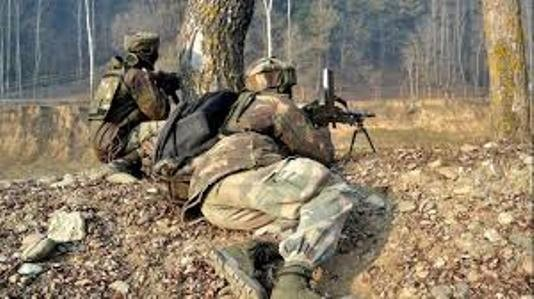 Two militants killed in ongoing gunfight