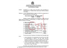 Constitution of State level & Distt level Committees fo PMAY-G Schemes