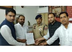 JKPCC Delegation calls on DGP Punjab Police for Safety of Students of Jammu and Kashmir studying in Punjab.