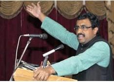 Ram Madhav arrives in Srinagar, holds meetings with mayor, corporators of SMC
