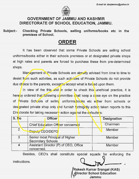 Checking Private Schools,Selling uniforms/books etc in school premises: Committee constituted for close vigil