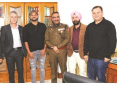 Cricketer Suresh Raina calls on DGP Dilbag Singh:  Will be available for all engagements aimed at helping the youth through sports
