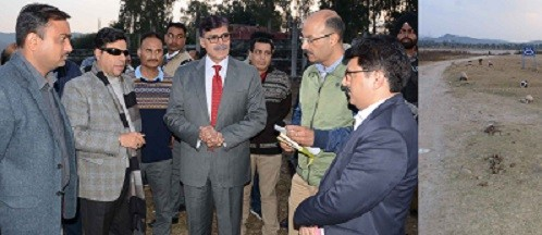 Advisor Kumar visits Indoor Sports Complex Nagrota, reviews progress ; Issues directions