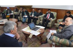 Advisor Sharma for early completion of Jammu, Srinagar Sewage Projects; Directs for release of pending funds to NBCC