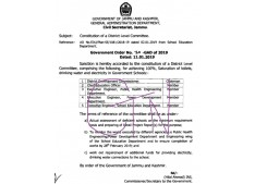Constitution of District Level Committees