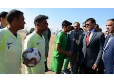3rd National Football Championship for Santosh Trophy 2018-19; Advisor Kumar declares open North Zone qualifying round at SMVDSB Sports Complex