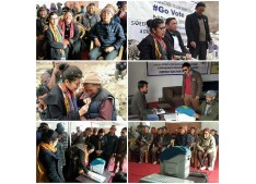 DEO Leh Avny Lavasa conducts Voters' Awareness Programs at Taru, Umla