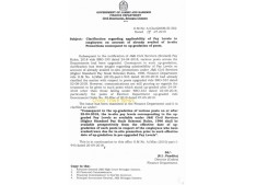 Clarifications regarding applicability of pay level to employees on a/c of already availed of In-situ promotion