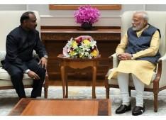 J&K Lieutenant Governor G C Murmu briefs Prime Minister