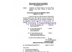 Constitution of Referral Board for IAS Officers of J&K UT