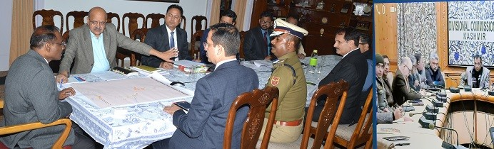 Heavy Snowfall:Lt. Governor reviews situation;100 % snow clearance from major Kashmir roads
