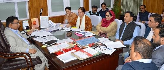 Manoj Dwivedi for 100% coverage under Beneficiary Centric Schemes in J&K