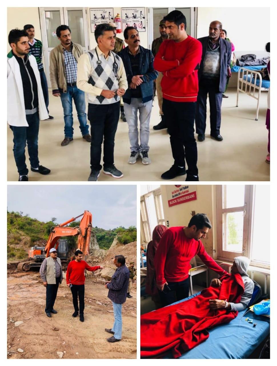 DC Rajouri pays surprise visit at SDH Sunderbani