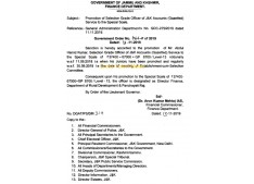 Promotion of Selection Grade Officer of J&K Accounts(Gazetted) Service