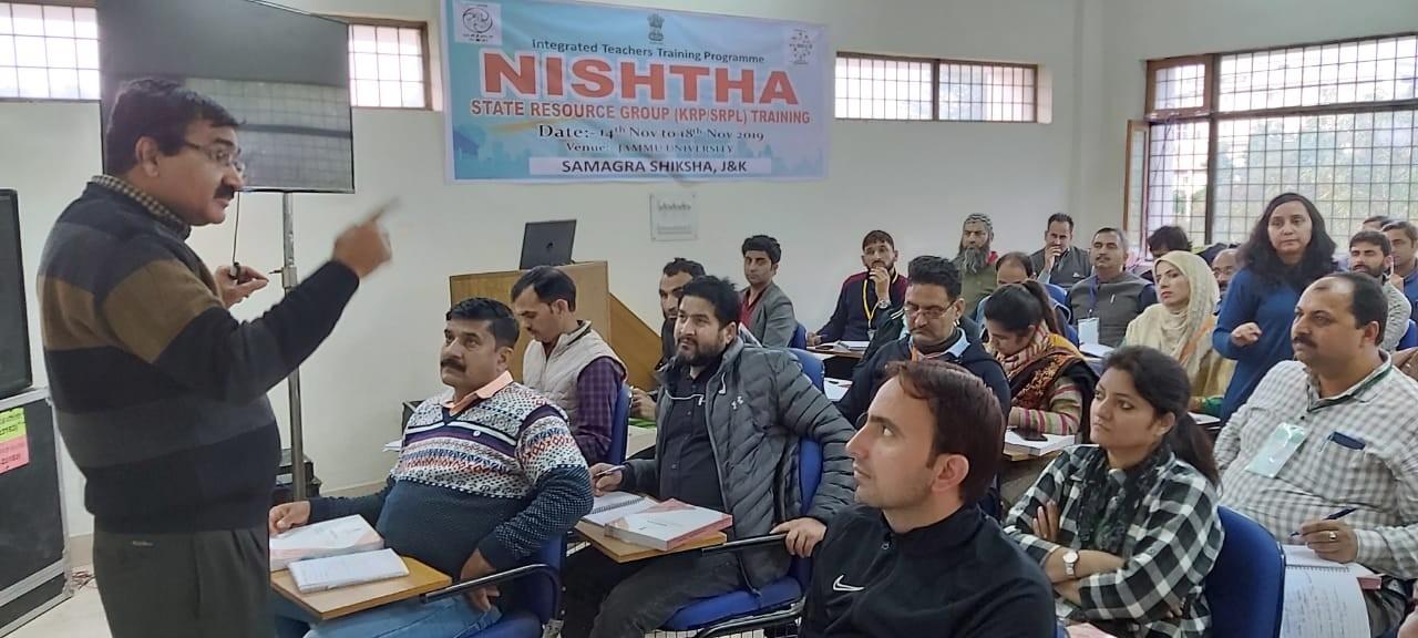 5 Days Teachers Training- NISHTHA commenced under Samagra Shiksha in Jammu