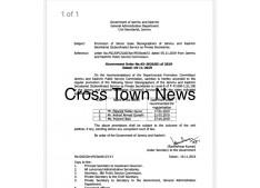 Promotion of Senior Scale Stenographers of Jammu and Kashmir Secretariat Subordinate Service as Private Secretaries