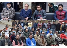B2V2 at Udhampur:Rohit Kansal interacts with people, PRI members