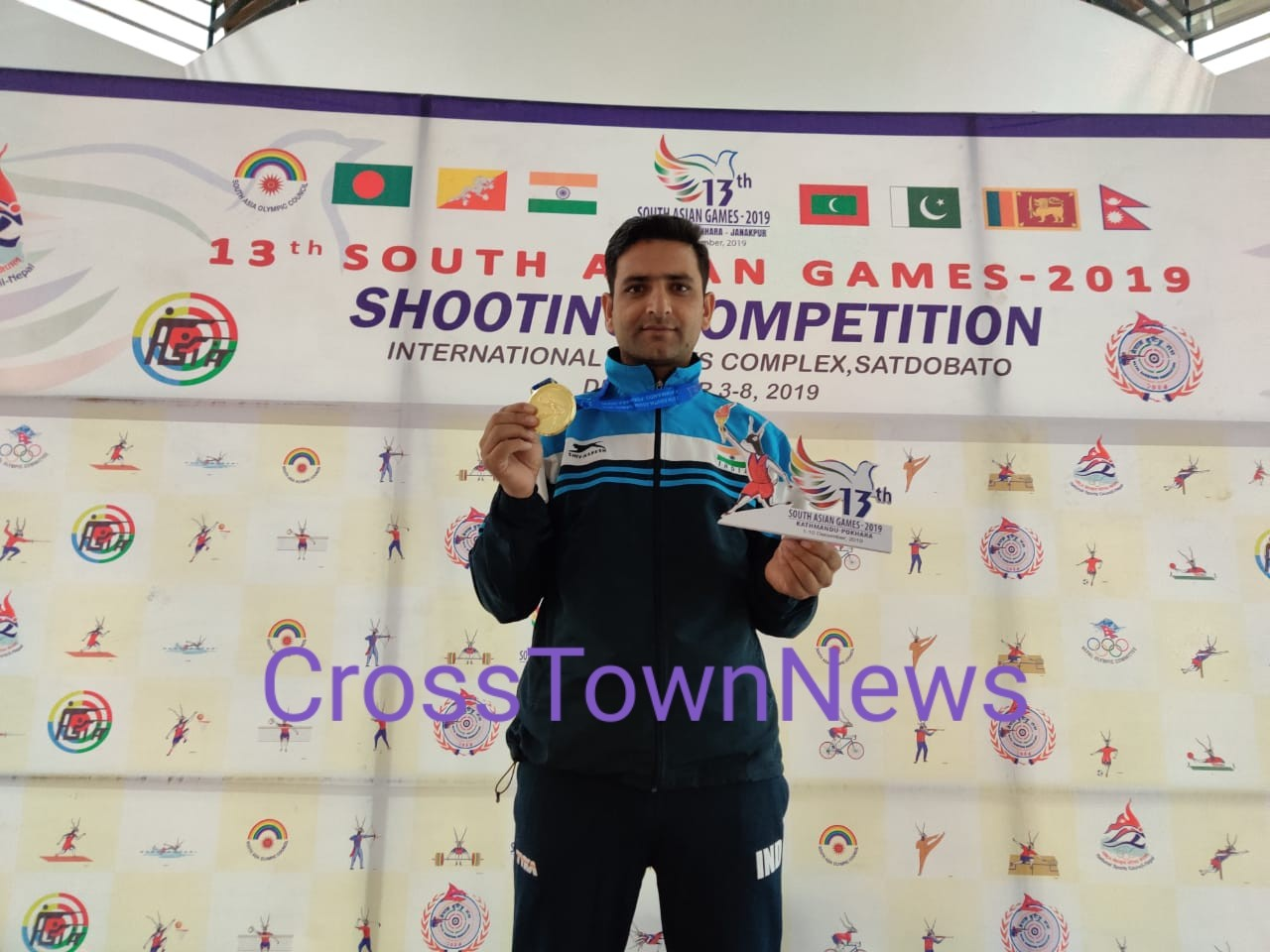 Ace J&K Shooter Chain Singh wins Gold Medal in South Asian Games